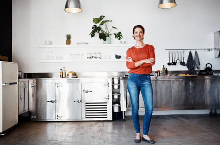 vrouw keuken