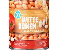 blikje witte bonen in tomatensaus